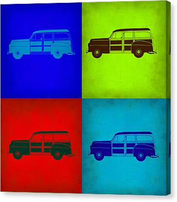 Woody Wagon Pop Art 1 Canvas Print by Naxart Studio