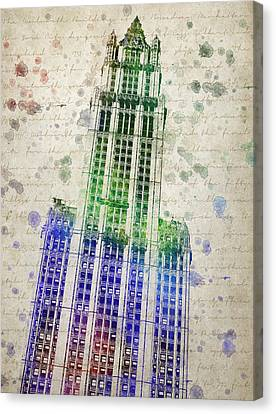 Woolworth Building Canvas Print by Aged Pixel