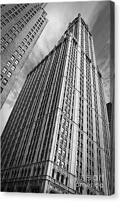 Woolworth Building Canvas Print by Delphimages Photo Creations