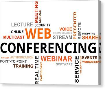 Meeting. Point Canvas Print - Word Cloud - Web Conferencing by Amir Zukanovic