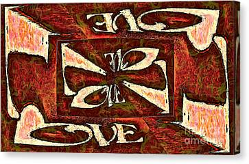 Word - Love - Crazylove Canvas Print