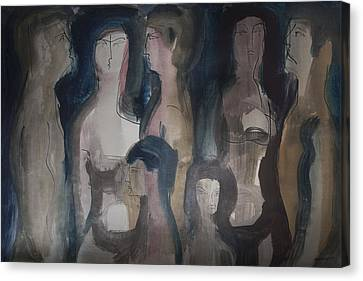 Wordless People Canvas Print by Horst Braun