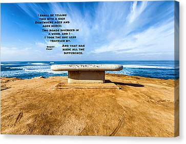 Words Above The Bench Canvas Print