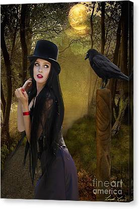 Words Of The Crow Canvas Print by Linda Lees