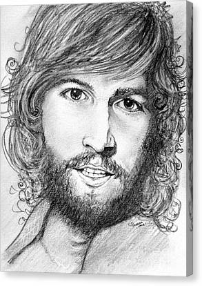 Barry Gibb  Canvas Print by Patrice Torrillo