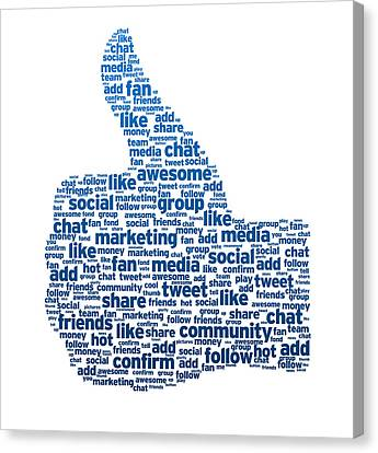 Words - Thumb Up Canvas Print by Aged Pixel