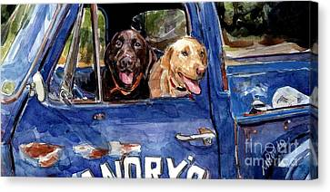 Work And Play Canvas Print by Molly Poole