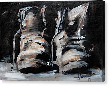 Work Boots Canvas Print by Jim Vance