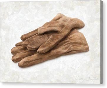 Work Gloves Canvas Print by Danny Smythe