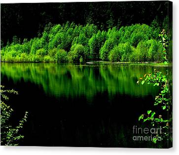 Work In Green Canvas Print by Greg Patzer