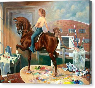 Work In Progress II Canvas Print by Jeanne Newton Schoborg