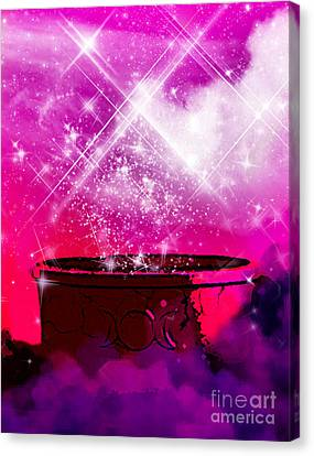 Work The Magic Canvas Print