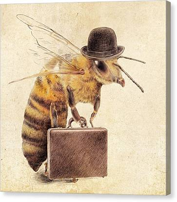Hat Canvas Print - Worker Bee by Eric Fan