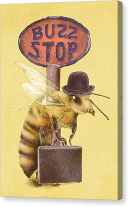 Worker Bee Yellow Option Canvas Print by Eric Fan