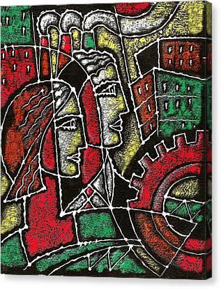 Industrial Composition Canvas Print by Leon Zernitsky