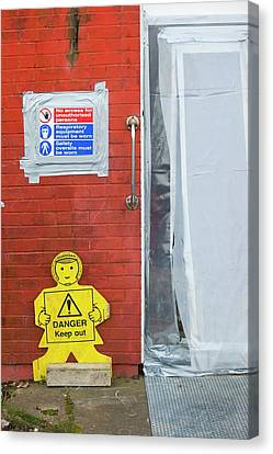 Asbestos Canvas Print - Workers Removing Asbestos by Ashley Cooper