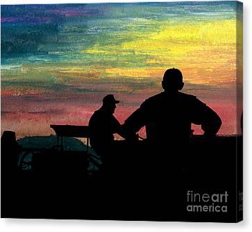 Workin' Till Dark Canvas Print by R Kyllo
