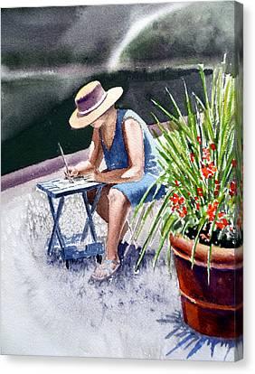 Working Artist Canvas Print