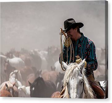 Working Cowboy Canvas Print by John McArthur