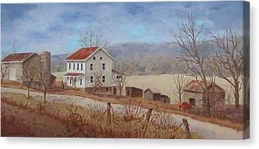 Working Farm Canvas Print by Tony Caviston