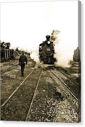 Working For The Railroad Canvas Print by Robert Frederick