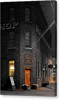Wine Scene Canvas Print - Working Late by Frozen in Time Fine Art Photography