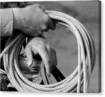 Working Man's Hands Canvas Print by Carla Froshaug