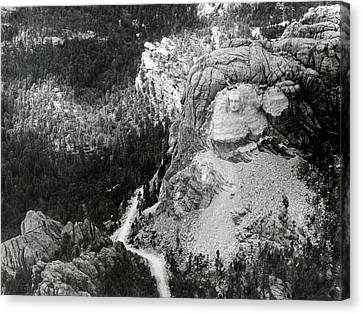 Working On Mount Rushmore Canvas Print by American Philosophical Society