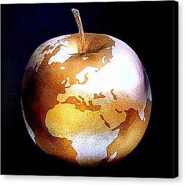 World Apple Canvas Print by The Creative Minds Art and Photography