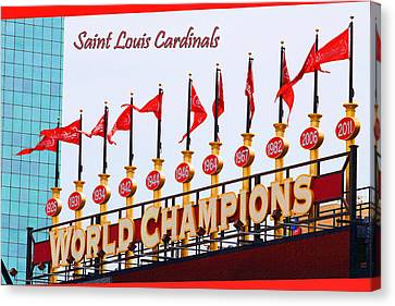 World Champions Flags Canvas Print