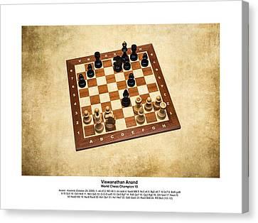 2008 World Champions Canvas Print - World Chess Champions - Viswanathan Anand - 1 by Alexander Senin