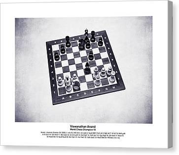 2008 World Champions Canvas Print - World Chess Champions - Viswanathan Anand - 2 by Alexander Senin