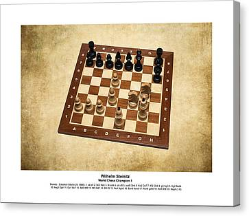 World Chess Champions - Wilhelm Steinitz - 1 Canvas Print by Alexander Senin