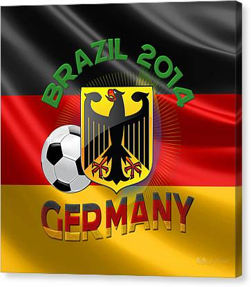 World Cup 2014 - Team Germany Canvas Print by Serge Averbukh