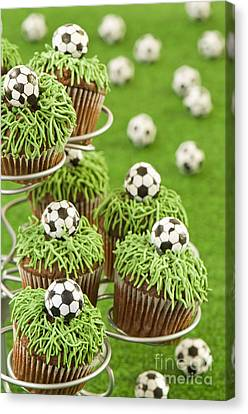 World Cup Cupcakes Canvas Print by Amanda Elwell