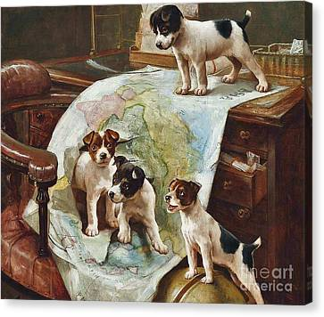 World Domination Canvas Print by Celestial Images