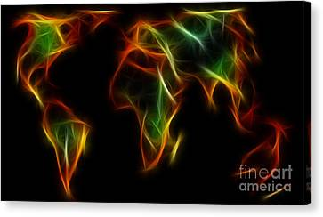World Impressions - Abstract World Canvas Print by Kaye Menner