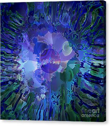Canvas Print featuring the digital art World In A Cell by Ursula Freer