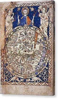 Jerusalem Canvas Print - World Map, 13th Century by Granger
