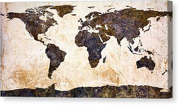 Surreal Art Canvas Print - World Map Abstract by Bob Orsillo