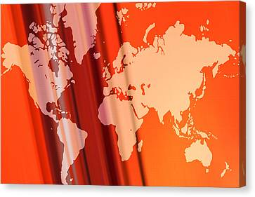 World Map Abstract Canvas Print by Modern Art Prints