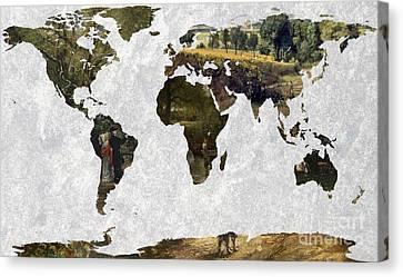 World Map Constable 2 Canvas Print