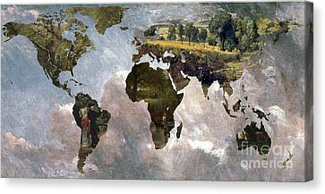 World Map  Constable  Canvas Print