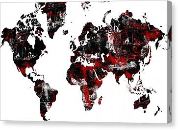 World Map Canvas Print by Modern Art Prints