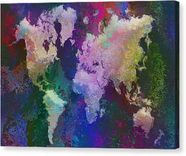 World Map Canvas Print by Jack Zulli