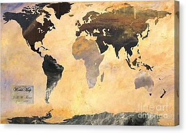 World Map   Turner 1 Canvas Print by John Clark