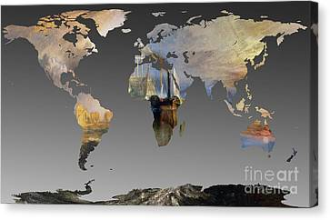 World Map  Joseph Turner 2 Canvas Print by John Clark