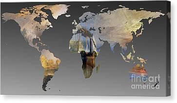World Map  Joseph Turner 3 Canvas Print by John Clark
