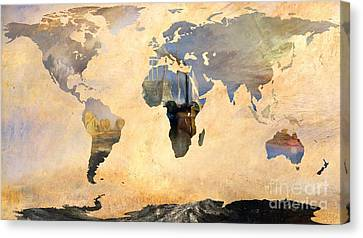 World Map   Joseph Turner 4 Canvas Print by John Clark