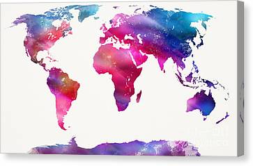 World Map Light  Canvas Print by Mike Maher